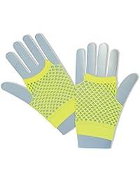 Fishnet Gloves. Short Neon Yellow
