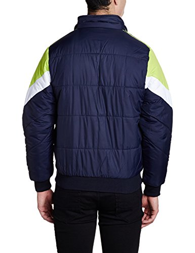 Qube by Fort Collins Men's Bomber Jacket (14645_Xl_Navy)