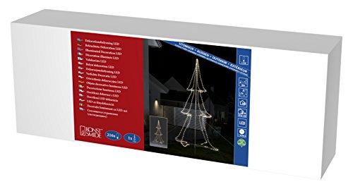 Konstsmide 3942-103 A, Tuyau LED Silhouette, métal, 6 watts, Transparent, 200 x 120 x 120 cm