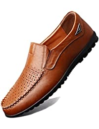 Seaoeey Mens Cozy Leather Shoes Oxford Dress Shoes Walking