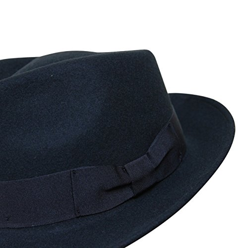 B S Premium Doyle- Cappello a Goccia Fedora-100% Feltro di Lana ... 9d5c7acb6405