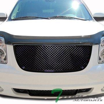 topline-autopart-black-3d-mesh-upper-lower-front-hood-bumper-grill-grille-07-12-gmc-yukon-denali-by-