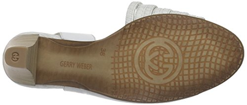 Gerry Weber Donna Sandali Saskia 03 Bianco (bianco-pelle Scamosciata 093)
