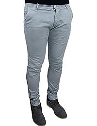 5d4f1e1997a7f2 Pantaloni uomo C. Battistini Jeans grigio chiaro casual Sartoriali slim fit  aderente estivo Nuovo 100