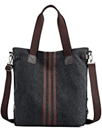 c458507df8547 Nlyefa Canvas Handtasche Damen Umhägetasche Groß Vintage Schultertasche  Shopper Tasche für Alltag…