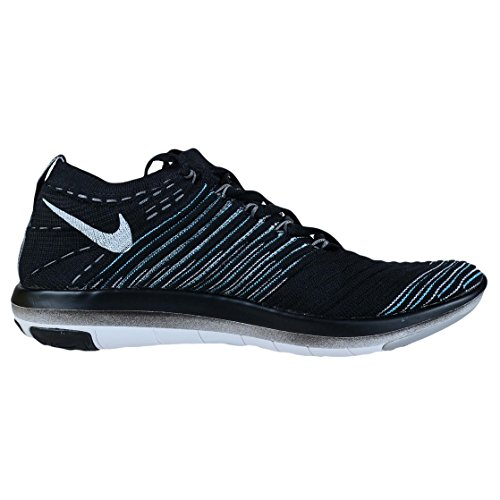 Nike - Wm Free Transform Flyknit, Scarpe da ginnastica Donna Nero (Nero / Bianco-lupo grigio-Drk Grey)