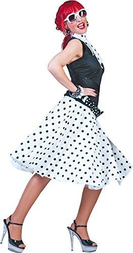 Roll Damen Rock And Kostüm - FBA Tellerrock Weiß 50er Jahre Rock´n Roll Rock
