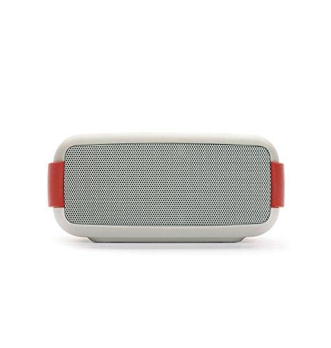 Foto Macrom Easy Speaker Wireless Bluetooth Impermeabile con Vivavoce e NFC, Bianco/Rosso