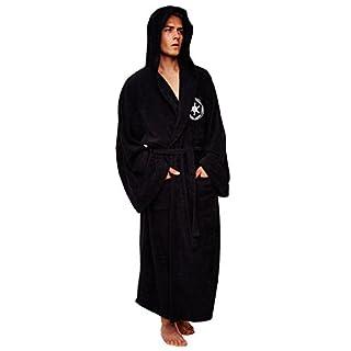 Star Wars Bademantel Jedi, braun-beige Gr. Einheitsgröße-Erwachsene, Darth Vadar Galactic Empire - Fleece - Black