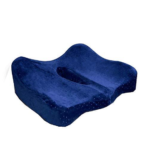 Ischial Tuberosity Sitzkissen, orthopädische Sitzkissen aus Memory Foam für Po, unteren Rücken, Kniesehnen, Hüften, Ischial Tuberosity, Heim-, Büro-, Auto-Hämorrhoiden-Sitzkissen,Blue