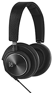 B&O PLAY by Bang & Olufsen BeoPlay H6 Second Generation Over-Ear Headphones with 3-Button Remote - Black Leather