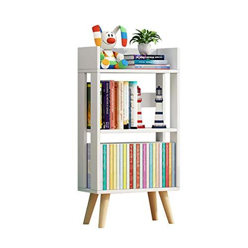 Weiße Dünne-speicher-kabinett (DNSJB Mehrschichtiger einfacher Boden-Kombinations-Kleiner Bücherschrank, Kinderbücherregal-Fester hölzerner Speicher-Kabinett (Farbe : Weiß))