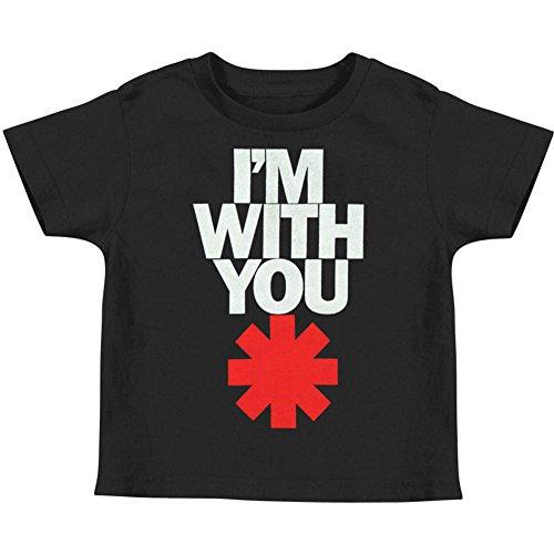 Red Hot Chili Peppers - Kleinkinder IWY Asterisk T-Shirt in Schwarz Black