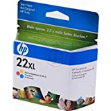 Original HP No22XL 22xl Inkjet Cartridge C9352CE C9352C Tri Colour Deskjet / PSC/ Photosmart/ Officejet /Digital Copier printers - Easy Mail Packaging - Foil Inks