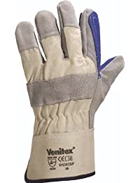 Venitex Cowhide Split Leather Glove - Blue/Grey - One Size