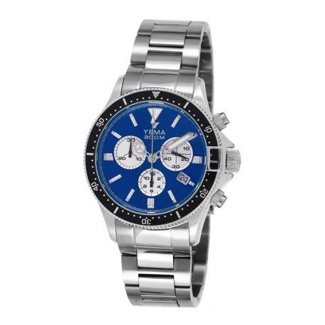 Reloj yema Pro Diver hombre soleillé azul y contadores Silver–ymhf1394–Idea regalo Noel–en Promo