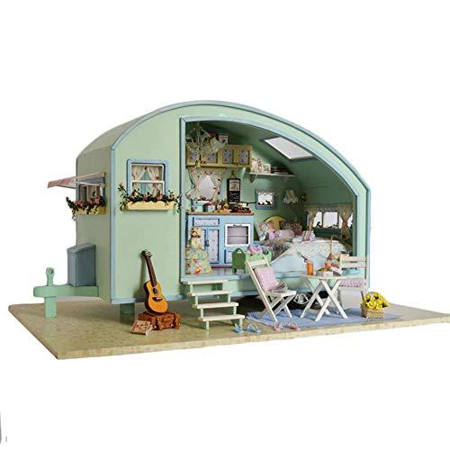 Puppenhaus Süß Haus DIY House mit Licht als Kinder Geschenk