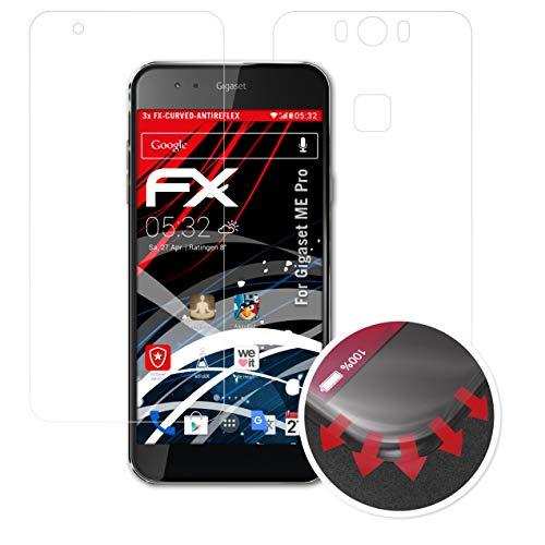 atFolix Schutzfolie passend für Gigaset ME Pro Folie, entspiegelnde & Flexible FX Bildschirmschutzfolie (3er Set)