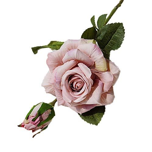 lamta1k 1 Stück Künstliche Blume Curly Edge Rose Tisch Garten Bühne Hohe Qualität und lebendige Farben mit echter Haptik Hochzeit Party DIY Dekoration