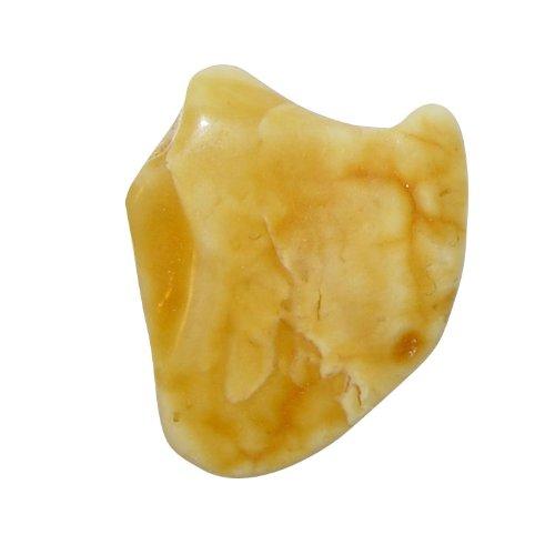 Bernstein gelb Trommelstein Handschmeichler Amber Taschenstein Größe ca. 20 x 25 mm Gewicht 2,5 - 3 Gramm.(3340) (Bernstein Heilstein)