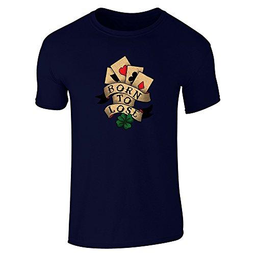 Pop Threads Herren T-Shirt Marineblau