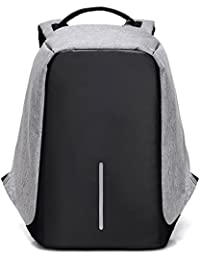 Insasta Bagzar Anti-Theft Water Resistant Grey Travel Backpack