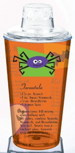amscan Halloween Cocktail-Shaker Party-Gadget transparent-orange 500ml Einheitsgröße