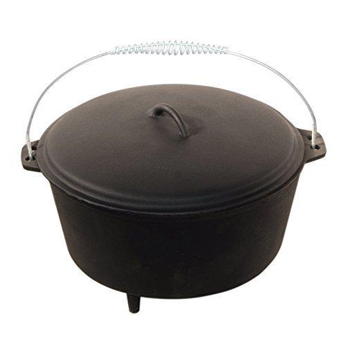 Dutch Oven 6QT mit Füßen Dutch-Oven aus Gusseisen Fertig eingebrannt 12er Koch-Topf aus Gusseisen voreingebrannt