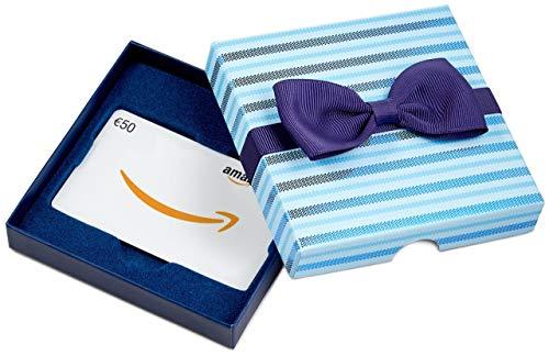 Amazon.de Geschenkkarte in  Geschenkbox - 50 EUR (Blaue Streifen)