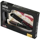 Theo Klein 5869 - Braun Satin Hair 7 Haarglätter mit Kamm und 2 Haarklammern, Spielzeug