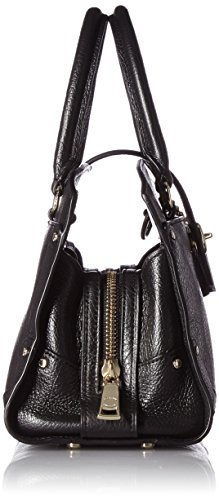 Coach Women's Mercer Satchel 24 Top-Handle Bag Black (Light Gold/Black)