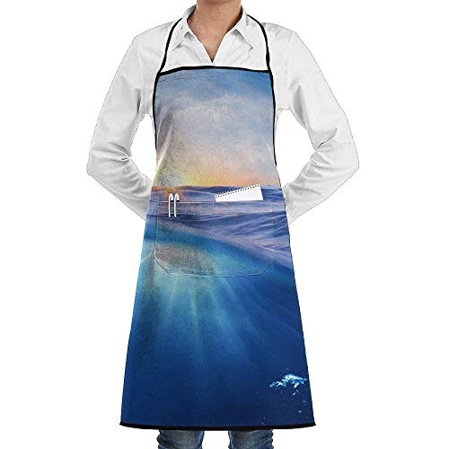 Drempad Schürzen Rays of Sky Fashion Waterproof Durable Apron with Pockets for Women Men Chef