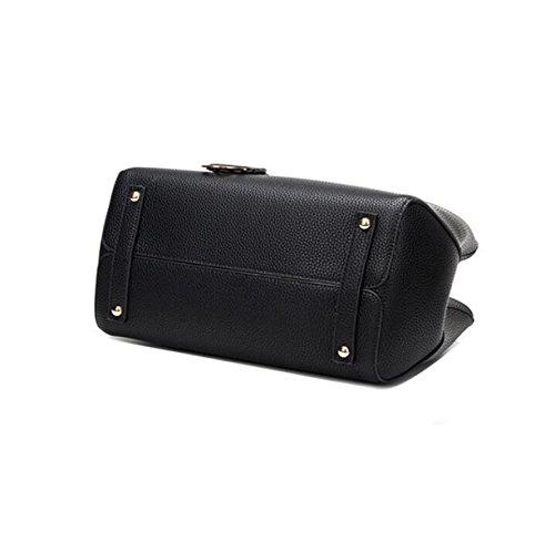 Leder Platin Paket Lychee Muster Handtaschen Handtasche Umhängetasche Messenger Tasche Einfach Wild Elegant Black