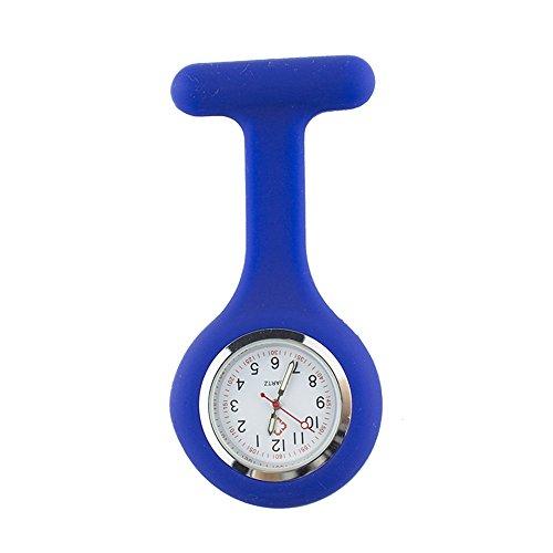 (TRIXES Taschenuhr aus Silikon mit Anhänger–Taschenuhr marineblau)