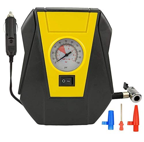 kgftdk Auto-Luftpumpe Reifenfüller Auto Luftkompressor Elektrische Pumpe tragbar Auto 12 V DC Volt 100 psi -