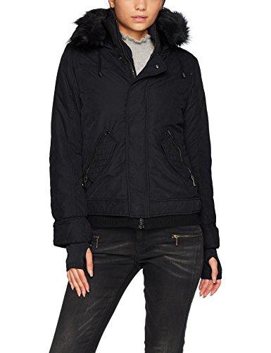 khujo Damen Jacke Karina PU T Will, Schwarz (Black 200), Large