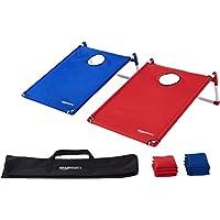 AmazonBasics - Juego cornhole (lanzamiento de sacos a un orificio) plegable con marco de PVC