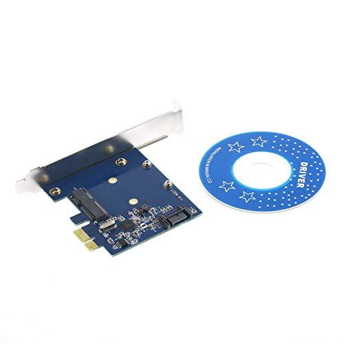 Preisvergleich Produktbild PCI-E PCIe zu mSATA SSD + SATA 3.0 kombinierter Extender-Adapter PCI-E zu SATAIII-Karte Weltweiter Speicher Neueste Tropfenverschiffen Großverkauf