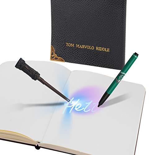 Dickie Toys 209452007 Tom Riddle's Notizbuch magisch, Harry Potter Zauberstab, geheimes Tagebuch DIN A5, schwarz