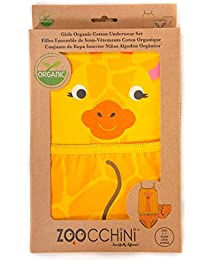 Zoocchini conjunto niña tirantes/braga, diseño de jirafa amarillo 4–5años