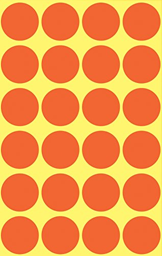 Avery 3172 Círculo Rojo 96pieza(s) - Etiqueta autoadhesiva (Rojo, Círculo, Papel, 1,8 cm, 96 pieza(s), 24 pieza(s))