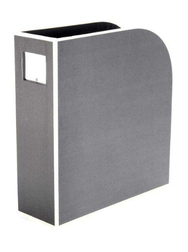 Semikolon (352748) Stehsammler A4 grey (grau) | Zeitschriften-Sammler und Dokumenten-Ordner | Für A4 | Format: 10,5 × 26,0 × 31,0 cm