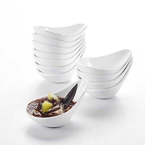 """MALACASA, Serie Ramekin.Dish, 12-teilig Set 4,5""""/11,5cm/75ml SUPER Mini Dessertschale Dessertschälchen Porzellan Snackschale Muffin Schälchen Dekoschale"""
