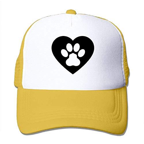 Voxpkrs Hundetatzen-Herz Clipart Unisex-justierbare Hüte Trucker Cap   Baseballkappe Netzrücken U8I0013033