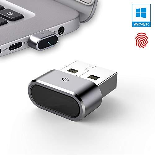 USB Fingerabdruckleser für Windows 7/8/10 Hello - Sicherheitsschlüssel biometrischer Scanner Sensor Dongle Modul für sofortigen Zugriff, Passwortfreie Login