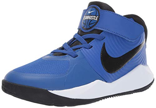 Nike Unisex-Kinder Team Hustle D 9 (ps) Basketballschuhe, Mehrfarbig (Game Royal/Black/White 000), 32 EU