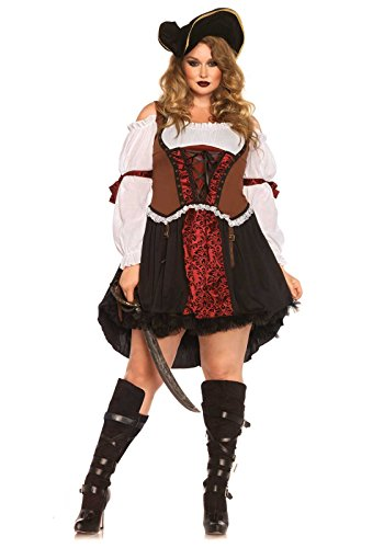Leg Avenue 85371X - Ruthless Piraten-Mädchen-Damen kostüm, Größe 1X-2X ( EUR 44-46)