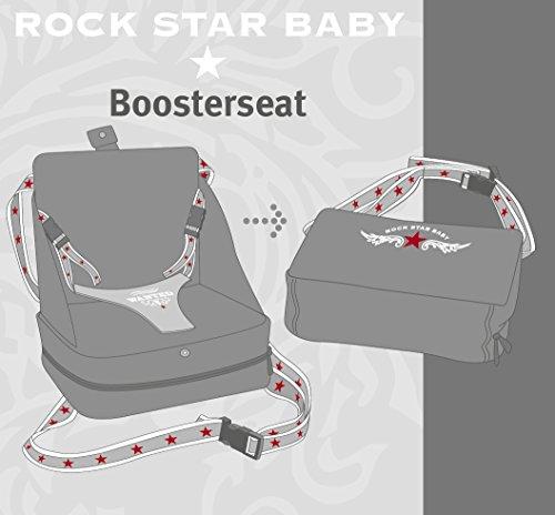 roba Boostersitz Rock Star Baby in grau, mobiler und aufblasbarer Kindersitz als Reisesitz und Sitzerhöhung, ideal als Hochstuhl für unterwegs für Babys und Kleinkinder - 9