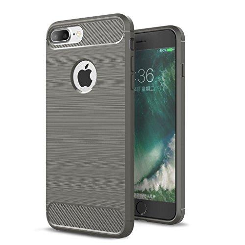 "Coque iPhone 7 Plus , IJIA Ultra-mince Robe De Cendrillon TPU Doux Silicone Bumper Case Cover Shell Housse Etui pour Apple iPhone 7 Plus 5.5"" gray"