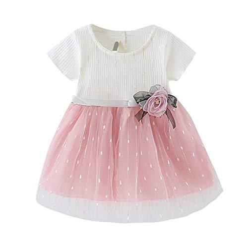 Innerternet Baby Kleid Mädchen Süß Blume T-Shirt Tüll Flower Ballett Kleid Prinzessin Kleid Girl Kleid MäDchen Outfits Kleidung Prinzessin Kleid 1-5 Jahre
